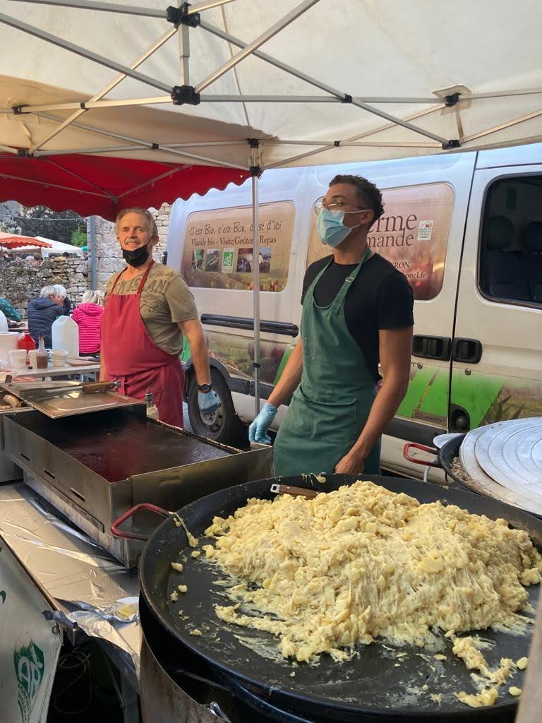 truffade/veau d'Aveyron